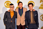 Jack Antonoff, Andrew Dost and Nate Ruess of Fun. Photo / AP