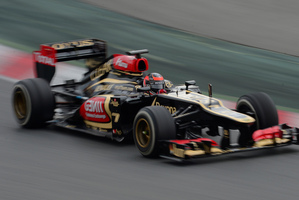 Kimi Raikkonen driving a Lotus is one of the brightest sparks in F1. Picture / AP