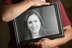 Rhonda Renata holds a photograph of her daughter Jasmine. Photo / Greg Bowker