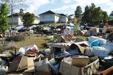 Rubbish on the streets of Glen Innes, waiting to be collected by the inorganic rubbish collectors. Photo / File