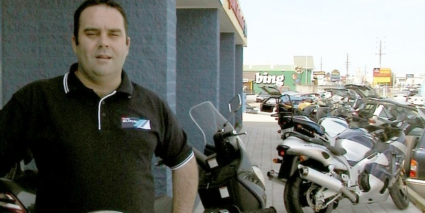 Glenn Bayly, shown here in a 2003 file photo, is accused of stealing $625,000 from a motorbike dealership. Photo / Bay of Plenty Times