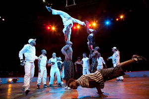 Circolombia's mix of urban dance styles and impressive gymnastic feats has a high fun factor. Photo / Sandra Roa
