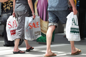 Figures show spending on apparel declined as spending on food rose. Photo / File