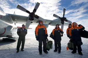 Prime Minister John Key and his party in Antarctica, last month. Photo / Alan Gibson