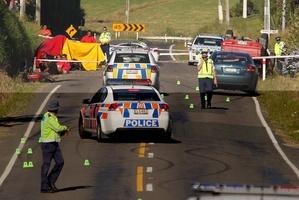 The scene of the crash. File photo / John Borren