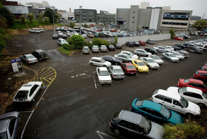 The Tournament Parking block around Sale and Cook Streets in Auckland City where they are dropping the price you pay to park your car there. 29 October 2008. New Zealand Herald Photograph by Dean