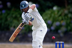Ross Taylor of the Stags batting.  Photo / Sarah Ivey