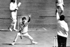 Richard Hadlee after his 300th test wicket in 1986. Photo / NZ Herald