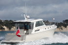 Photo / There is plenty of built-in seating in the Back Cove 34's deckhouse and cockpit. Photo / Supplied