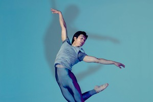 Qi Huan performs in the Royal New Zealand Ballet's Of Days, choreographed by Andrew Simmons. Photo / Supplied