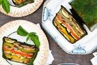 Roast vegetable terrine. Photo / Babiche Martens