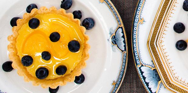 Individual lemon tarts. Photo / Babiche Martens