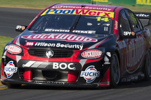 Fabian Coulthard led the way in qualifying in Melbourne. Photo / Mark Horsburgh - EDGE Photographics