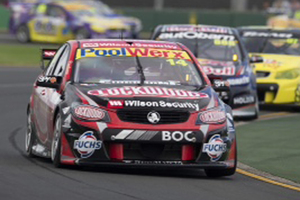 Fabian Coulthard has won the first race of four V8 Supercars races at the F1 Grand Prix meet in Melbourne. Photo / Edge Photographics.