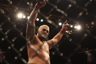 Mark Hunt of Australia celebrates his win over Chris Tuchscherer of the United States. Photo / Getty Images.