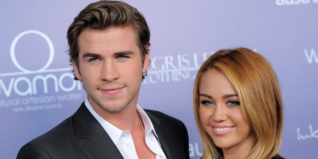 Liam Hemsworth and Miley Cyrus. Photo/AP