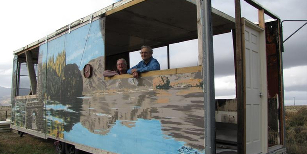 Jenny Simmons and Neil Cameron, of Alexandra, are now the owners of the pie cart. Photo / Sarah Marquet