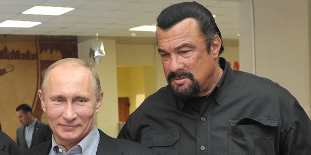 Vladimir Putin and Steven Seagal. Photo/AP