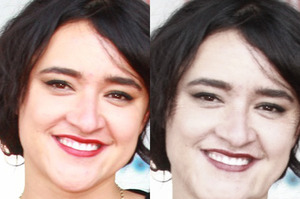 Keisha Castle-Hughes can be seen to have aged after 20 years of smoking. Photo / NZ Herald
