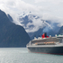 The Queen Mary 2 cruise liner passes the Fiordland National Park, New Zealand. Photo / Supplied