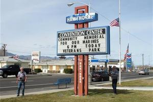 Seven Marines were killed and several others seriously injured in a training accident in Hawthorne, Nevada. Photo / AP