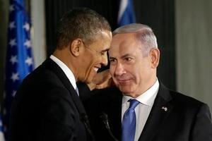 President Barack Obama and Israeli Prime Minister Benjamin Netanyahu. Photo / AP