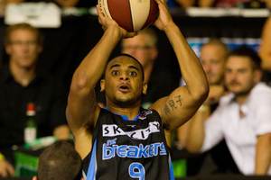Corey Webster top scored for the Breakers. Photo / Richard Robinson