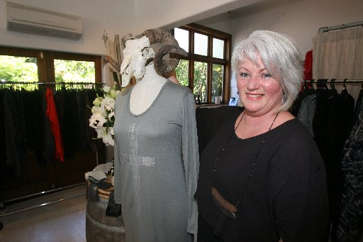 PASSIONATE: Lorraine Hall, of Greytown, whose fashion shop will feature in the Shear Fashion show later this month.