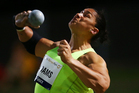 Valerie Adams produced a series of consistent world-class throws to win her 12th national shot put title with a best throw of 20.37m. Photo / Getty Images.