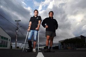 Brothers Steven Climo (left) and Mathew from Napier, are calling for support to organise a drag strip. Photo / Paul Taylor