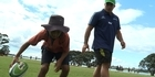 Watch: Rugby: Blues skills & drills with schools
