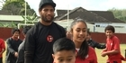 Watch: NRL: Manu Vatuvei inspires students