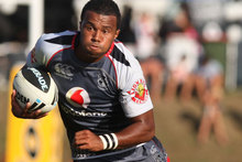 Alehana Mara hasn't given up hope of forcing his way into the Warriors' No 9 jersey. Photo / Getty Images. 