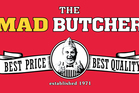 The Mad Butcher logo The Mad Butcher sign picture supplied