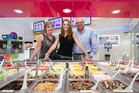 Nadine and Norman Markgraaff with daughter Chantal Janssen at their Mission Bay store. Photo / Richard Robinson