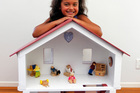 This dolls' house is child's play to make. Photo / Michael Craig