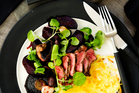 Steak with Roasted Beetroot and Watercress Salad. Photo / Babiche Martens