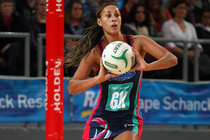 Geva Mentor of the Vixens is delighted to get a taste of life as a professional athlete. Photo / Getty Images