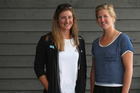 Rebecca Scown, left, and Kayla Pratt have been named New Zealand's women's coxless pair.