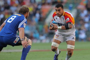 Liam Messam clocked up 100 games for the Chiefs but is nursing a swollen ankle. Photo / Getty Images