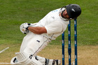 New Zealand batsman Dean Brownlie can expect to get a working over from the English pace attack when the final test starts at Eden Park tomorrow. Photo / Getty Images