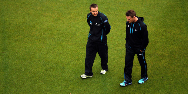 Loading The importance of the third test at Eden Park for coach Mike Hesson (left), captain Brendon McCullum (right) and New Zealand Cricket cannot be overstated. Photo / Getty Images