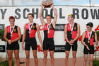 The Hamilton Boys' High U18 coxed four are in winning form for the Maadi Cup. Photo / Getty Images