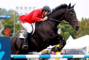 Maurice Beatson rides My Golliwog to victory. Photo / Christine Cornege