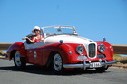 Stylish Bunty Condon turns heads in her restored Jowett Jupiter, Jezebel.Pictures / Jacqui Madelin