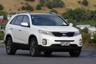 The self-parking system takes the angst out of taking the sizeable Sorento into the city. Pictures / David Linklater