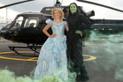 Wicked cast members Suzie Mathers as Glinda (left) and Jemma Rix as Elphaba.  Photo / Chris Gorman