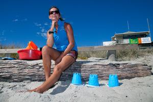 Beach Kids instructor Hayley Hart said she regularly noticed oil on her feet but was not concerned and neither were the parents of the children she instructed. Photo / Bay of Plenty Times