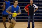 AFL St Kilda head recruiter Tony Elshaug checks out Kiwi talent at Waitakere Stadium this week. Photo / Sarah Ivey