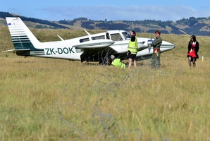 The Piper Twin was on a safari with 30 other planes. Photo / Otago Daily Times